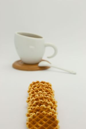 Cookies and coffee cup Stock Photo