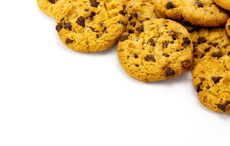cookies  isolated on white backgrounds Stock Photo