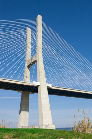 View of the Vasco da Gama bridge - Lisbon Stock Photo - 6651514