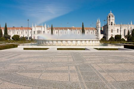 The Hieronymites Monastery is located in Lisbon Portugal. Editorial