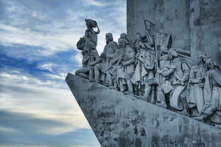 descubridor: Padrao dos Descobrimentos (Monument of the Discoveries) in Lisbon, Portugal