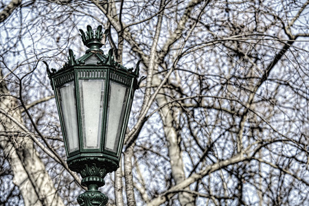 typical: Typical metal street lamp at Lisbon (Portugal).