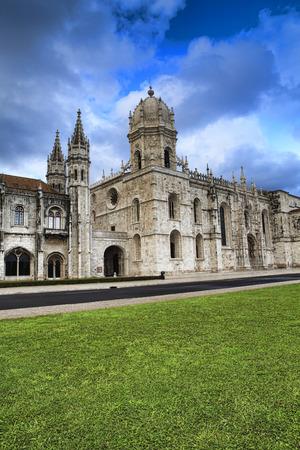 Jeronimo monastery in lisbon, portugal . unesco world heritage site Stock Photo