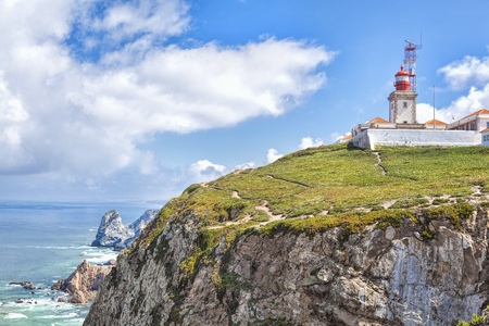 Portugal. Cabo da Roca and the lighthouse