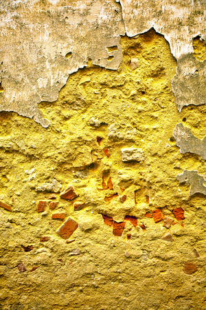 Old dirty nasty plaster on the wall surface Stock Photo