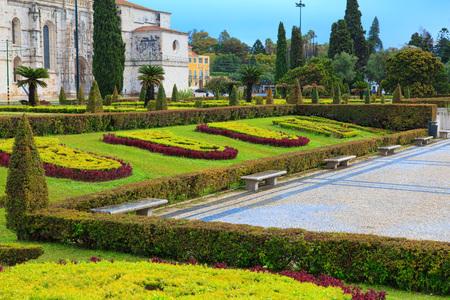 belem: Park in front of jeronimos monastery, Lisbon