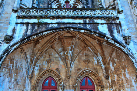 belem: Architecture details of the monastery or hieronymites Editorial
