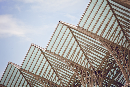 Modern building exterior . Detail of modern architecture