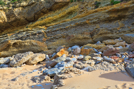 The rocky coast seen in Portugal Sintra Stock Photo