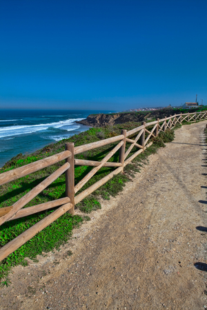 Atlantic ocean coast view .Sintra Portugal