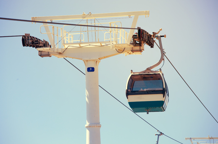 Cableway in National Park in Lisbon, Portugal Stock Photo