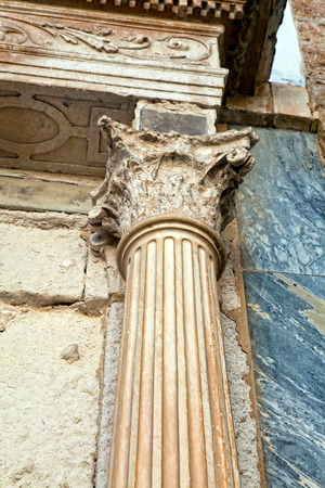 Architectural elements of the ancient temple