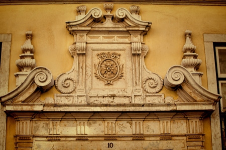 Detail of ancient architecture, in Lisbon. Stock Photo