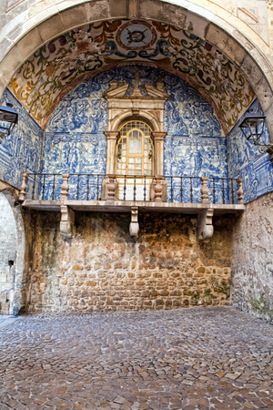 Beautiful medieval architecture in the old town Obidos in Portugal