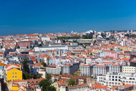 Beautiful view of Lisbon old city, Portugal Stock Photo