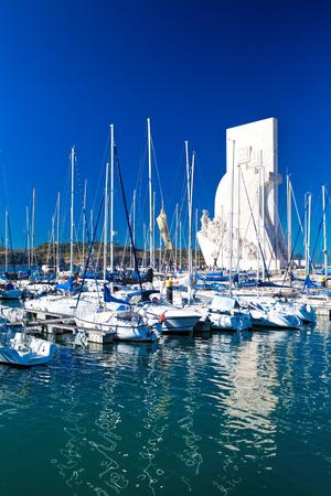 LISBON, PORTUGAL - SEPTEMBER 13 . 2017 . Marina in the Belem neighborhood on the river Tagus Lisbon.