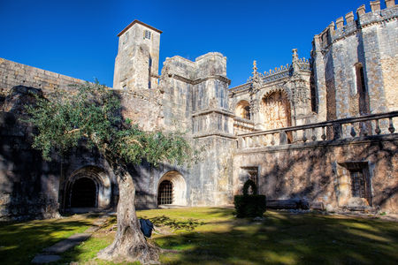 Christ Convent cloister, showing the manuelin style. Tomar, Portugal.