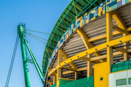LISBON, PORTUGAL - APRIL 18, 2018: Exterior of the stadium Jose Alvalade.  Home stadium for the Sporting Clube de Portugal.