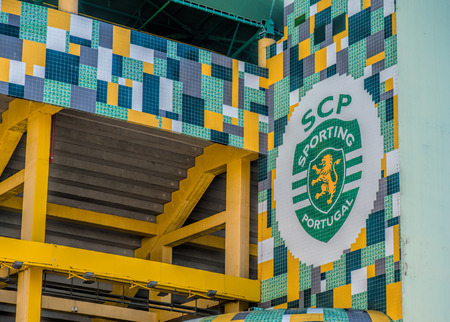 LISBON, PORTUGAL - APRIL 18, 2018: Exterior of the stadium Jose Alvalade.  Home stadium for the Sporting Clube de Portugal.