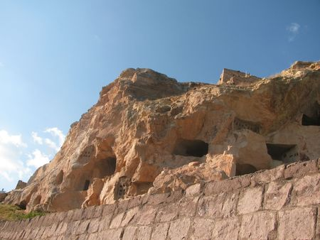 cave house: View of cave house in Cappadocia, Turkey