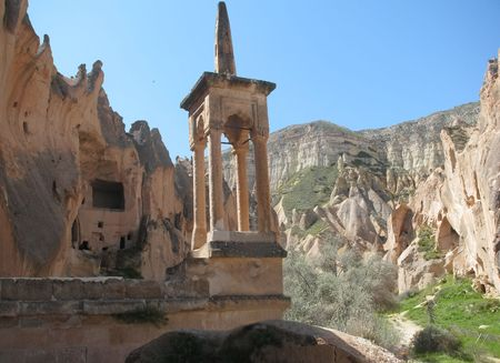 View of ancient cave town in Cappadocia, Turkey Stock Photo - 8240547