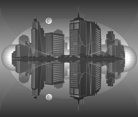 city in gray tones Stock Vector - 9716268