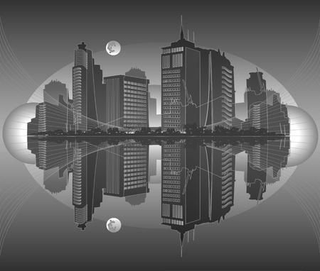 city in gray tones Stock Vector - 9716268