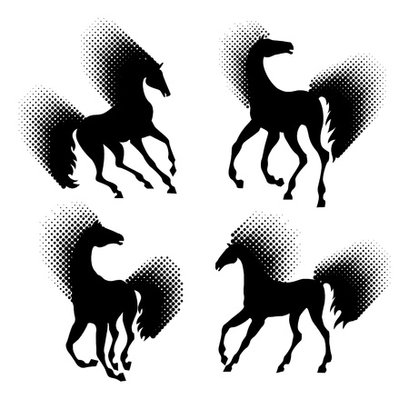 Horse silhouettes Stock Vector - 9820702