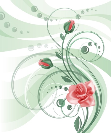 rose stem: Floral background