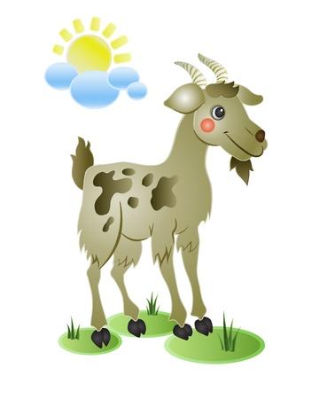 Funny goat  イラスト・ベクター素材