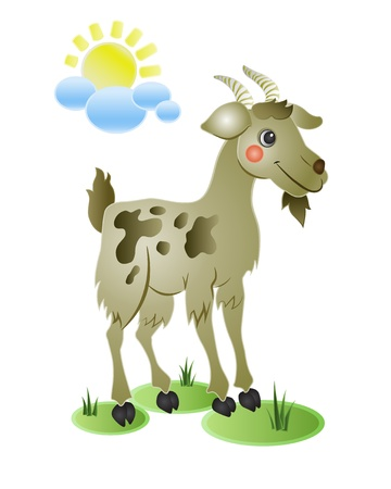 cabras: Funny Cabra Vectores