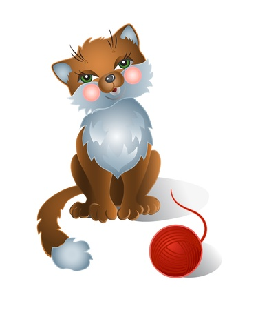 Funny cat Stock Vector - 10827054