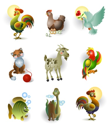 Icons of animals Stock Vector - 11009938