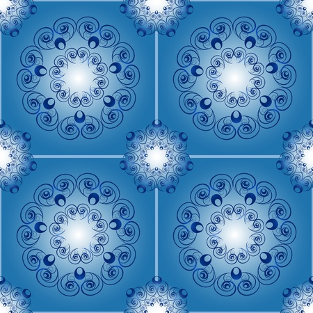 Blue seamless pattern Stock Vector - 11009945