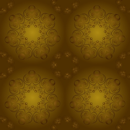Brown seamless pattern Vector