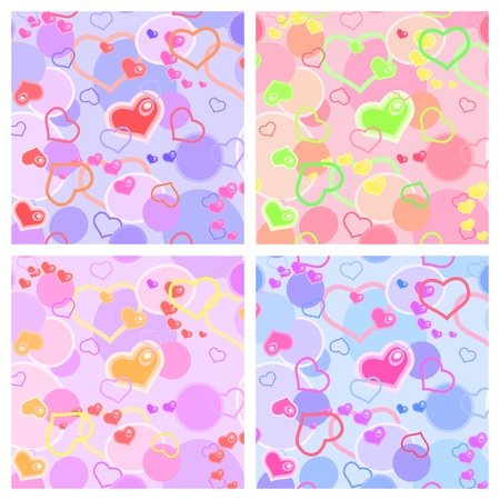 Love seamless pattern   with  hearts Vector