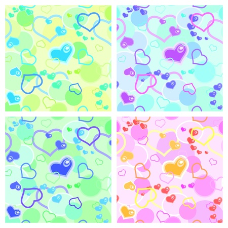 Love seamless pattern   with  hearts Stock Vector - 11912872