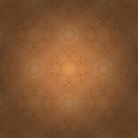 Seamless pattern in brown tones Vector