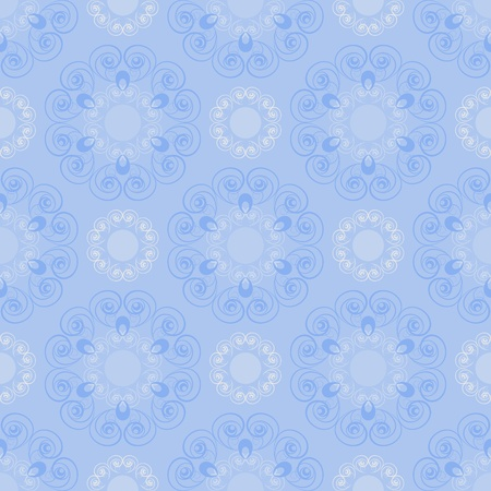 Seamless pattern in blue tones Vector