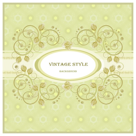 Vintage frame in pastel  tones.