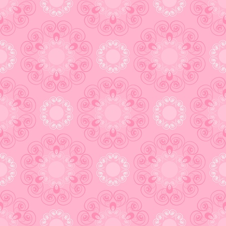 Seamless pattern in pink tones Vector
