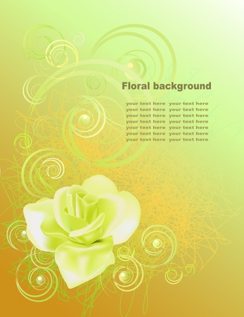 Abstract background wiht rose in gold tones Stock Vector - 12033001