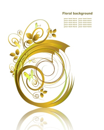 Abstract background  in gold tones Stock Vector - 12032999