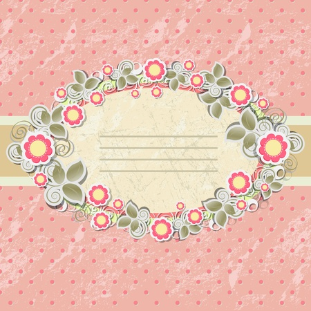 Floral background in vintage stile. Vector