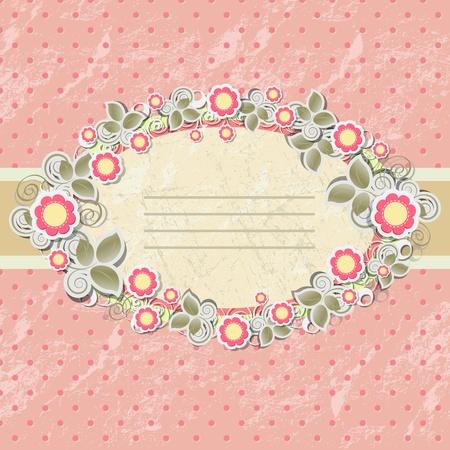 Floral background in vintage stile. Illustration