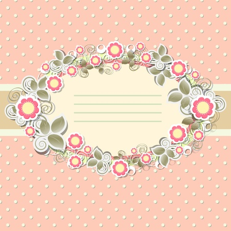Floral background in vintage stile  Vector