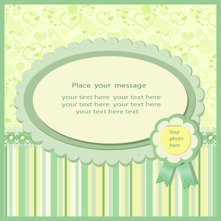 Retro background in green tones Vector