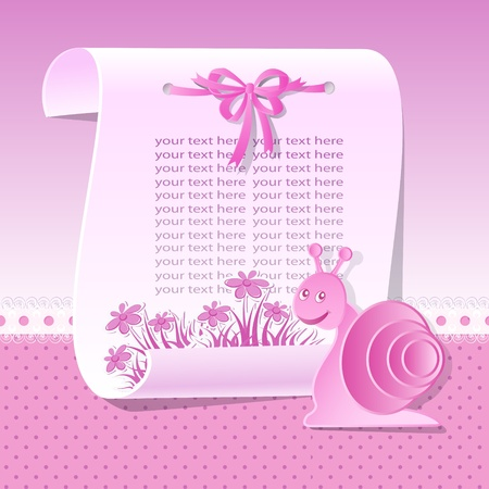 Baby background in pink tones Vector