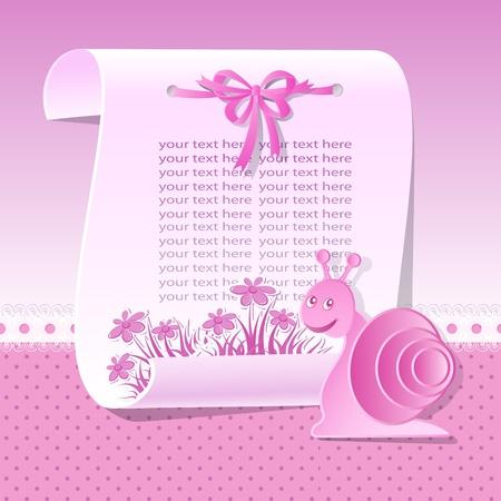 Baby background in pink tones Stock Vector - 12802734