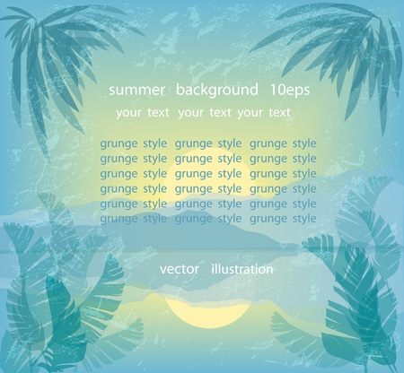 Summer background in vintage style Stock Vector - 12802773